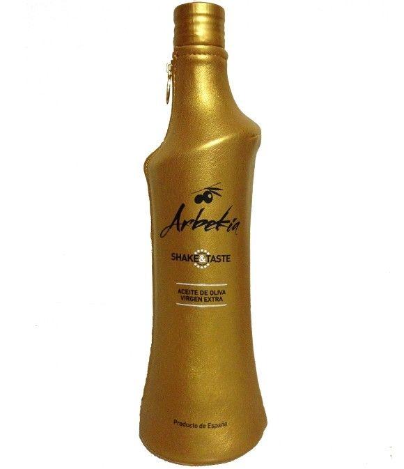Arbekia Shake&Taste - botella vidrio 500 ml. con funda