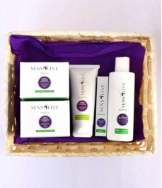 Sensolive Batch - Basket of creams, Aloe Vera gel and eye contour