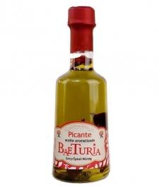 Aceite Baeturia Aromátizado Picante de 250 ml- Botella de Vidrio 250 ml.