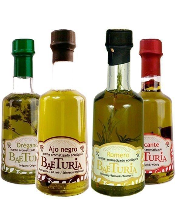 Aceite Baeturia aromatizado - Set de 4 aromas