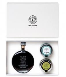 L'Oli Ferrer - Vinaigre PX, caviar d'huile d'olive, fleur de sel