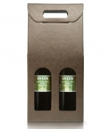 GREEN - Box of 2 500 ml glass bottles
