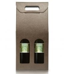 GREEN - Coffret de 2 bouteilles en verre de 500 ml.
