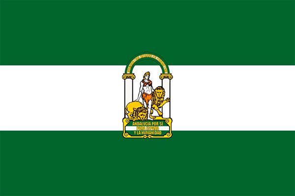 Bandera oficial de la Comunidad Autónoma de Andalucía