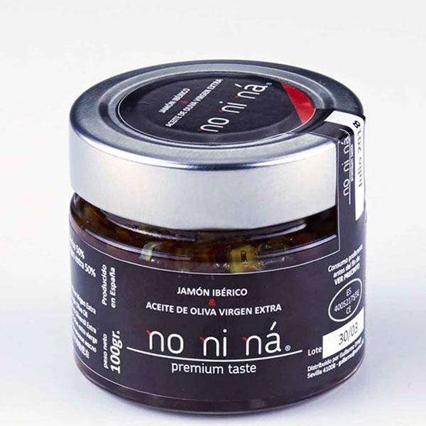 Jamón ibérico de bellota con aceite de oliva virgen extra