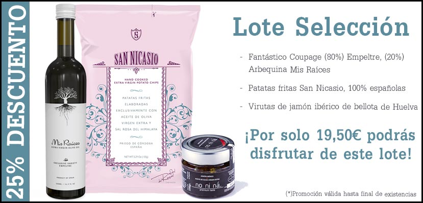 Lote Selección Patatas San Nicasio, Aceite Mis Raices, Tarro Jamón No Ni Ná