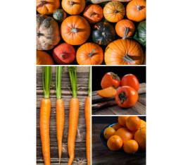 ¿Que tienen en común la calabaza, el caqui, la mandarina y la zanahoria?