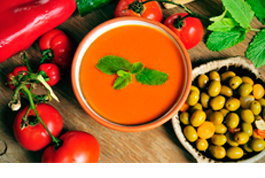Which oils are the ones that best accompany gazpacho and salmorejo?